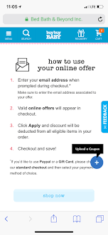 Anyone With A Bed Bath And Beyond Coupon Code I Can Have? - November ... Bath And Body Works Coupon Promo Code30 Off Aug 2324 Bed Beyond Coupons Deals At Noon Bed Beyond 5 Off Save Any Purchase 15 Or More Deal Youtube Coupon Code Bath Beyond Online Coupons Codes 2018 Offers For T Android Apk Download Guide To Saving Money Menu Parking Sfo Paper And Code Ala Model Kini Is There A For Health Care Huffpost Life Printable 20 Percent Instore
