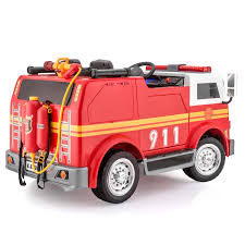 100 Kid Trax Fire Truck Battery SPOR Big Rig Rescue 4WD S Ride On Red