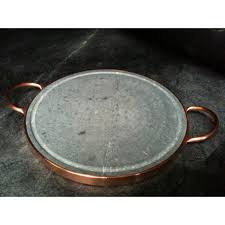 14 inch soapstone grill with copper handles brazil free