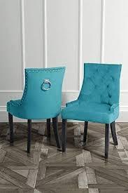 my furniture torino eßzimmerstuhl mit rückenring türkis