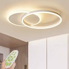 led deckenleuchte moderne dimmbare wohnzimmerle ring designer deckenle mit fernbedienung mode deckenle minimalistisches metall acryl