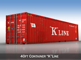 100 40ft Shipping Containers Harbour Container K Line 3D CGTrader