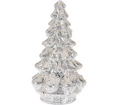 Qvc Christmas Tree Recall by Set Of 3 Illuminated Mercury Glass Graduated Christmas Trees