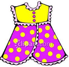 Little Girl Dresses Clipart