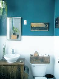 Teal Brown Bathroom Decor by Blue And White Bathroom Redesign Inspiration With Blue Wall With
