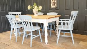 Farmhouse Table Painted In 'wimborne White' Roseberry Shabby Chic French Country Cottage Antique Oak Wood And Distressed White 7piece Ding Set Four Stripy White Blue Shabbychic Ding Chairs Hand Painted Finished In Woking Surrey Gumtree Table Chairs Best Of Ripley Chair Pine Round Room Height Lights Ballad Decoration Tables Balloon Back Antique White French Chic Ornate Ding Table Set With Decor Cozy Slipcovers For Inspiring Interior My Home Room Ideas Chic Diy Shabby Chrustic Chair Basil Chaise
