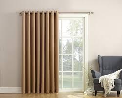 Sound Reducing Curtains Amazon by Amazon Com Sun Zero Barrow Energy Efficient Patio Door Curtain