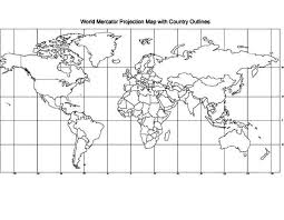 Educational World Map Coloring Page