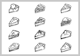 Free apple pie illustration set