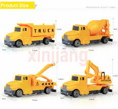 100 Toy Cement Truck 4 Types Mini Diecast Car Alloy Engineering Vehicles Excavator