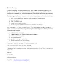 Cover Letter Sample Analyst Programmer Letterjdi Org