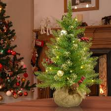 The Holiday Aisle Glittery 2 Green Champagne Gold Fir Artificial Christmas Tree With 15 Warm White Lights Timer Reviews
