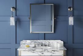 luxury wall mounted rectangular bathroom mirror