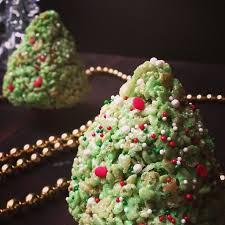 Rice Krispie Christmas Tree Ornaments by Krispies Christmas Trees Recipe