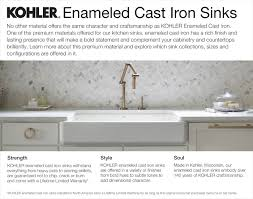 kohler iron tones drop in undermount cast iron 17 in single bowl