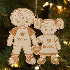 Big Brother And Little Sister Personalized Wood Christmas Ornament ...