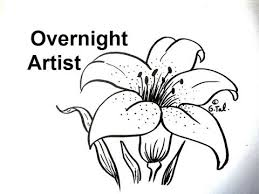 How To Draw Flowers Draw A Lily Flower Easy Step By Step