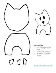 Template For Dog With Perky Ears