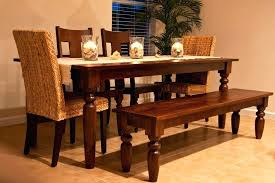 Dining Room Table With Bench Seat Seats Solid Wood For Kitchen Oak