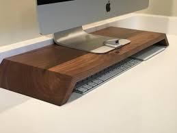 Wood modern puter desk stand – Southern Restoration
