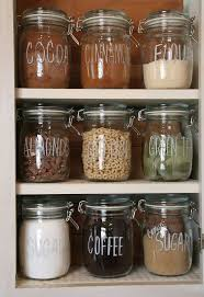 Organize Dry Pantry Items With Ikea Jars and Chalk Markers