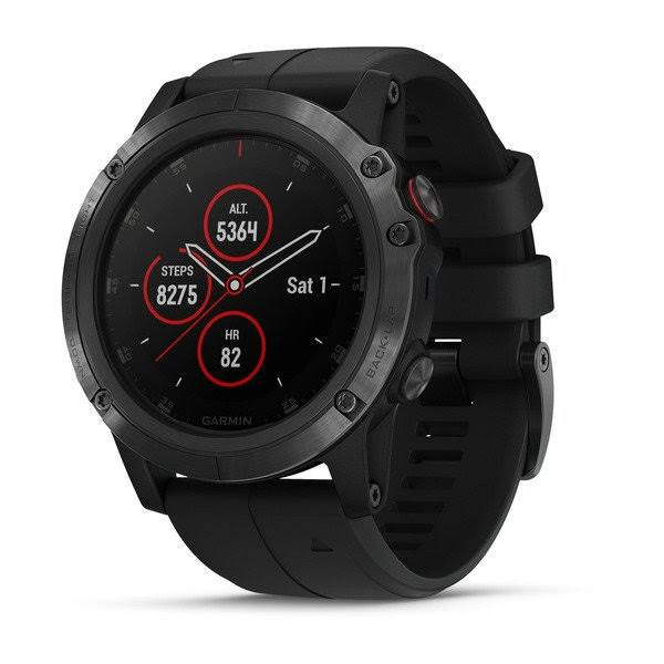 Garmin Fenix 5X Plus Sapphire Smart Watch - Black