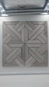 Aztec Pattern Blue Wood Vein Marble Wall Floor Tile 6x6 Sections