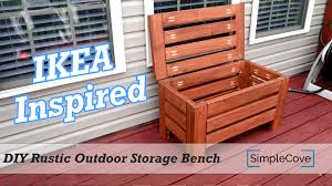 DIY Rustic Outdoor Storage Bench