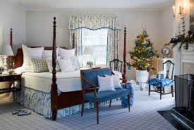 Blue And White Holiday Bedroom