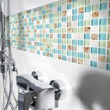 Color For Bathroom Tiles by Blue Color Crystal Glass Mixed Sea Shell Mosaic Hmgm1148 For