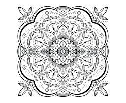 Mandala Design Coloring Book Volume 1 Printable Adult Page Meditation Art Patterns Coloured Designs Full