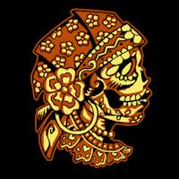 Sugar Skull Pumpkin Carving Patterns sugar skull gypsy stoneykins