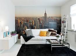 wohnzimmer mit fototapete new york wohnideen einrichten