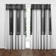 moderne polyester gemustert schwarz weiß schlafzimmer