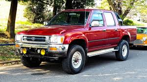 100 Hilux Truck 1991 Toyota Pickup Diesel 5sp Double Cab USA Import Japan