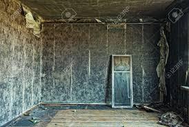Old Abandoned Burned Interior Photo Stock