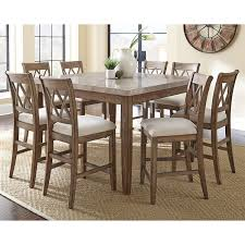 9 Piece Patio Dining Set Walmart by Amazon Com Steve Silver Company Franco Marble Top Counter Table