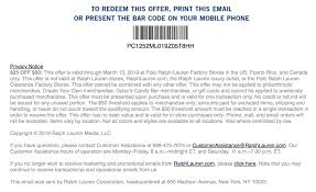 Polo Ralph Lauren Coupon-Get $25 Off When You Spend $50 Or ... Golf Galaxy Coupons May 2019 Darigold Milk Dsw Card Balance Shoe Carnival Mayaguez Birthday Freebie Dsw Designer Warehouse Freebie Depot How Much Do Ross Employees Make Aida Bicaj Coupon Code Mobile App Shopping Grab Malaysia Promo First Ride Peking Kitchen Quincy V8 Juice Canada Printable Coupons Ps3 Games Stein Mart Discounts Promo Codes Connaught Shaving Promotional Biggby Coffee Crocs 10 Off Coupon Phillyko Korean Community In Pa Nj De Go Sports Code