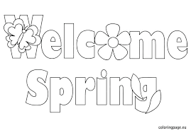 Spring Coloring Page Springtime Flowers Pages For Prek