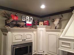 Above Kitchen Cabinet Decorations Pictures by Above Kitchen Cabinets Decor Texas Bbq Decor Letters Michael U0027s