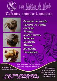 flyer pour coiffure domicile coiffures féminines et masculines