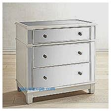 Hayworth Mirrored 3 Drawer Dresser by Storage Benches And Nightstands Lovely Antiqued Mirrored