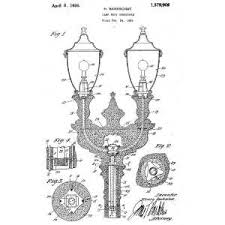 Who Invented The Lamp Post by Street Light Patents 1925 1927