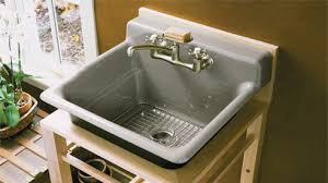 Kohler Utility Sinks Uk by Utility Sink Kohler Bayview Wood Stand Park Falls Undermount Uk