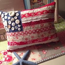 Make This Darling Flag Pillow From Scraps Of Vintage Fabric Lace And A Handful Old Buttons The Finished Size Is Up To You It Can Be Large Enough For