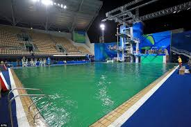 In August The Diving Pool At Summer Games Turned Green Because 80 Litres Of