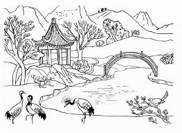 Nature Scenes Coloring Pages Awesome Scene Sheets