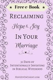 Reclaiming Hope Joy In Your Marriage Free E Book PinIt Img Christian