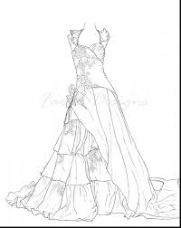 Fabulous Wedding Dress Coloring Pages With And Printable