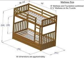 Twin Over Twin Bunk Beds With Trundle by Discovery World Furniture Twin Over Twin Honey Mission Bunk Beds